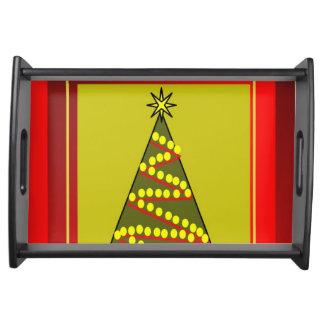 Bandeja de la porción del árbol de navidad