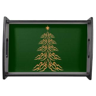 Bandeja de la porción del árbol de navidad de Bell