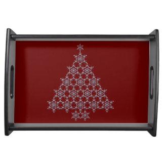 Bandeja de la porción del árbol de navidad del