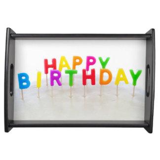 Bandeja de la porción del feliz cumpleaños