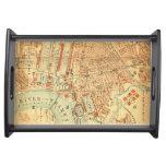 Bandeja de la porción del mapa de Londres del vint