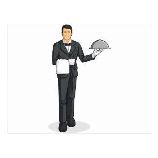 Bandeja de la porción del mayordomo o del camarero postal