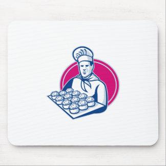 bandeja de la porción del panadero de empanadas de alfombrilla de ratón