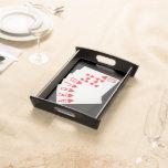 Bandeja de la porción del póker