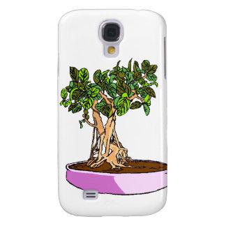 Bandeja de la púrpura de los bonsais del Ficus Funda Para Galaxy S4