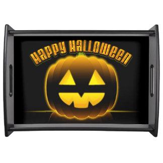 Bandeja de servicio del feliz Halloween 3