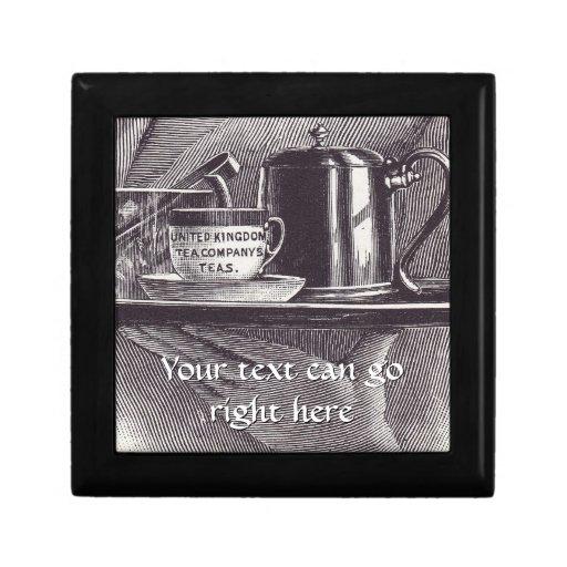 Bandeja de té del vintage caja de joyas