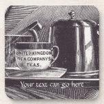 Bandeja de té del vintage posavasos