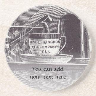 Bandeja de té del vintage posavasos manualidades