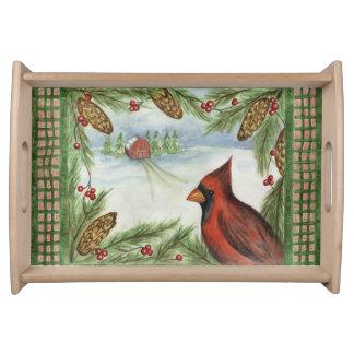 Bandeja del cardenal del invierno