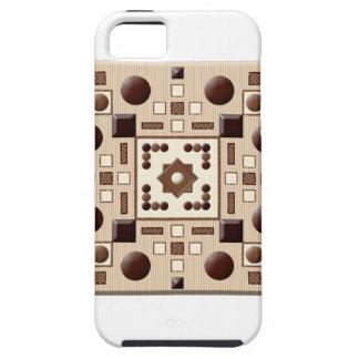 Bandeja del chocolate funda para iPhone 5 tough