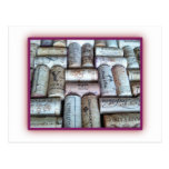 Bandeja del corcho del vino tarjeta postal