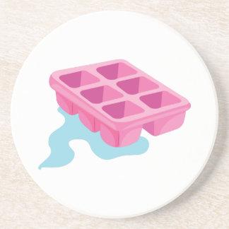 Bandeja del cubo de hielo posavasos diseño
