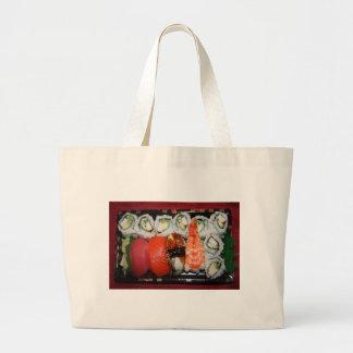 Bandeja del sushi bolsa de tela grande