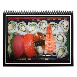 Bandeja del sushi calendario