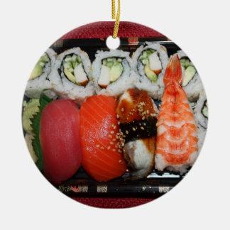 Bandeja del sushi ornato