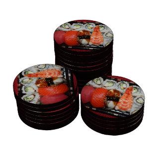 Bandeja del sushi juego de fichas de póquer