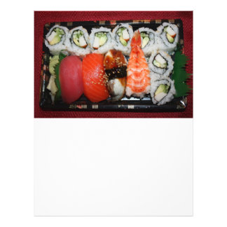 Bandeja del sushi tarjeton