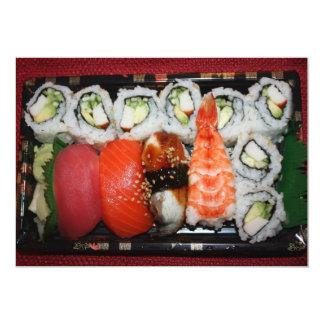 Bandeja del sushi invitación personalizada