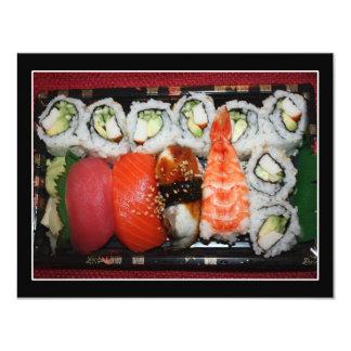 Bandeja del sushi invitación