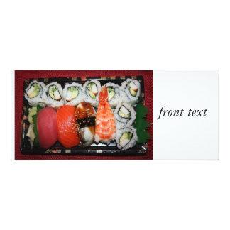 Bandeja del sushi comunicado personalizado