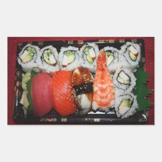 Bandeja del sushi rectangular pegatina
