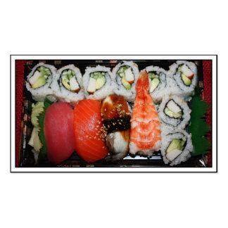 Bandeja del sushi tarjeta de visita