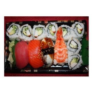 Bandeja del sushi tarjetas de visita