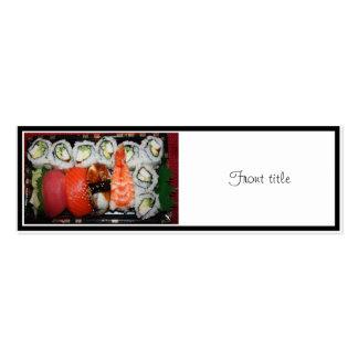 Bandeja del sushi plantilla de tarjeta de visita