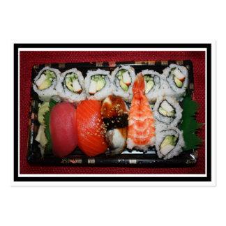 Bandeja del sushi plantilla de tarjeta de negocio