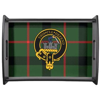 Bandeja escocesa de la porción del escudo y del ta