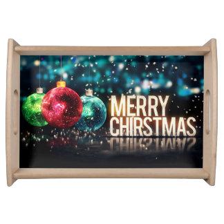 Bandeja especial de la porción del navidad pequeña
