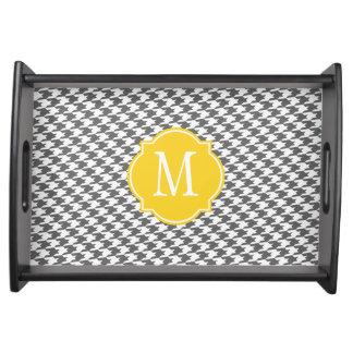 Bandeja gris de la porción del modelo de Houndstoo