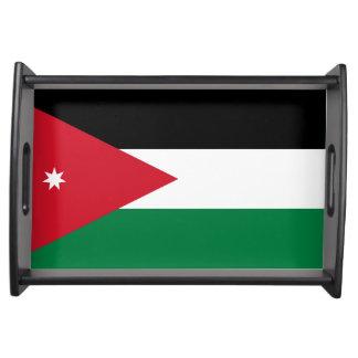 Bandeja jordana de la porción de la bandera