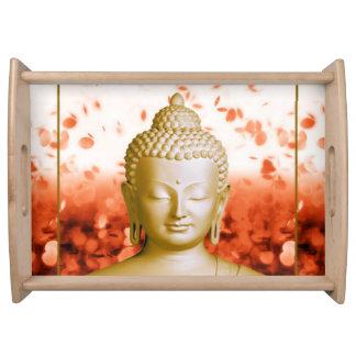 Bandeja serena de la porción de Buda