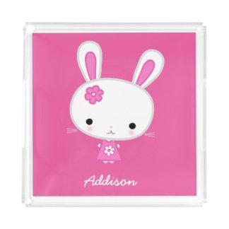 Bandejas rosadas lindas personalizadas de la