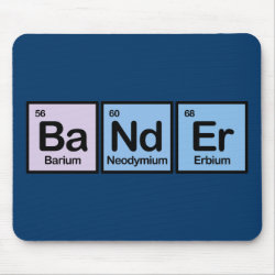 Mousepad with Bander Made of Elements design