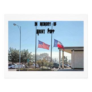 Bandera 027, en la memoria Popp ofBrent Flyer Personalizado