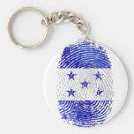 Bandera 100% del Honduran de la huella dactilar de Llaveros Personalizados