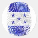 Bandera 100% del Honduran de la huella dactilar de Pegatina Redonda