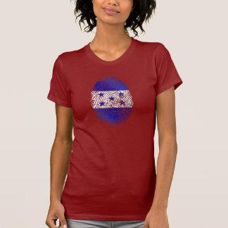 Bandera 100% del Honduran de la huella dactilar de Camiseta