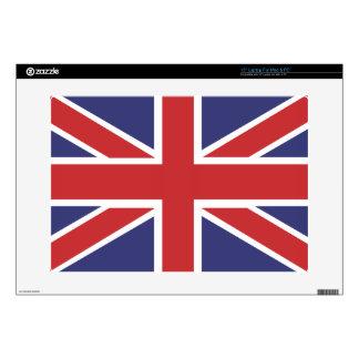 """Bandera 15"""" de Union Jack ordenador portátil para  Portátil Calcomanías"""