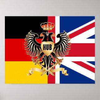 """Bandera 16"""" de la federación del eje """" papel de póster"""