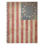Bandera 1776 de los E.E.U.U. Cuadernos