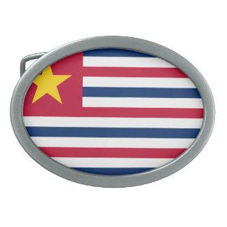 Bandera 1861 de Luisiana Hebilla Cinturon Oval