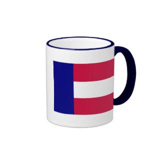 Bandera 1879 del estado de Georgia Taza De Dos Colores