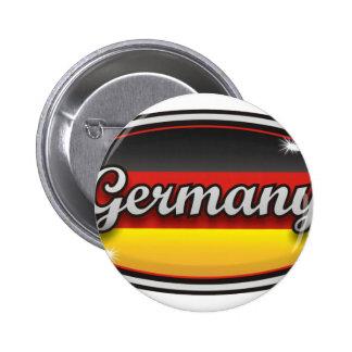 Bandera 1 de Alemania Pin Redondo De 2 Pulgadas