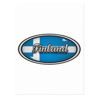 Bandera 1 de Finlandia Tarjeta Postal