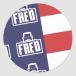 Bandera 1 de Fred Etiquetas Redondas