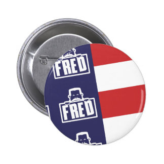 Bandera 1 de Fred Pin Redondo 5 Cm